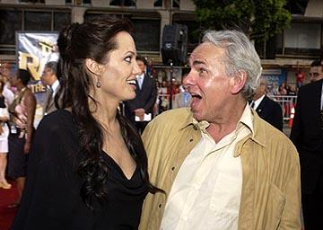 Angelina Jolie and Jan De Bont at the LA premiere of Paramount's Lara Croft Tomb Raider: The Cradle of Life