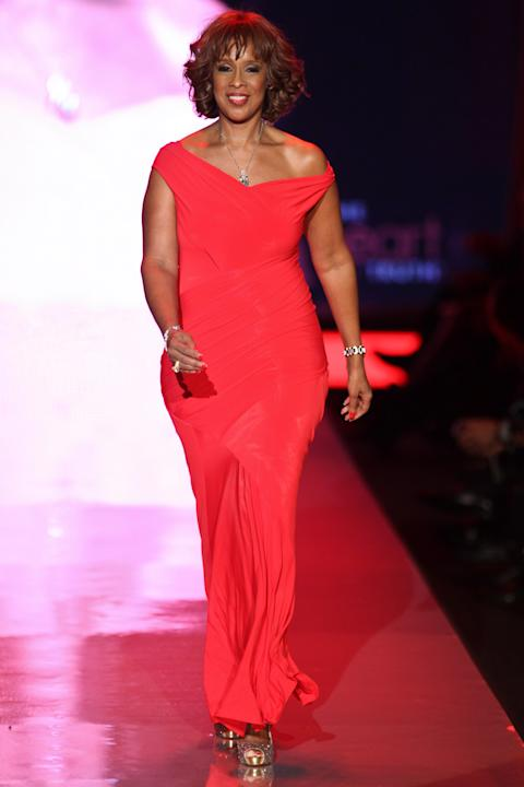 Gayle King in Donna Karan
