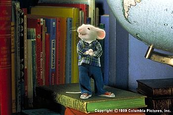 What he lacks in stature, our vertically-challenged hero, Stuart Little (voiced by Michael J. Fox ), makes up for in cleverness, 'can-do' spirit and style in the Columbia Pictures presentation, STUART LITTLE