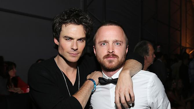 Ian Somerhalder and Aaron Paul