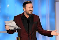Ricky Gervais, The 2012 Golden Globe Awards  | Photo Credits: Paul Drinkwater/NBC