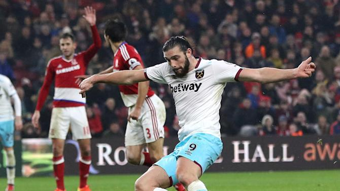 Andy Carroll give West Ham win as Aitor Karanka hits out at Middlesbrough fans' short memories