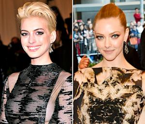 Anne Hathaway, Amanda Seyfried Have Affectionate Reunion at Met Ball After Oscars Dress Incident