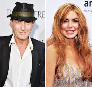 "Charlie Sheen Wants to Help Lindsay Lohan: She ""Clearly Needs a Mentor"""