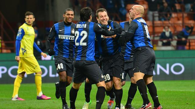 Italian Serie A - Inter overtake Milan after beating Chievo