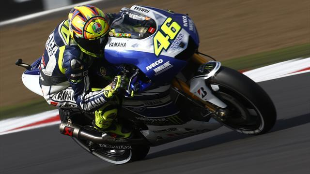 Motorcycling - Rossi and Pedrosa tie on final day