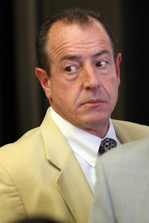 Michael Lohan, father of actress Lindsay Lohan, arrives to the Beverly Hills Courthouse for her probation hearing, at Beverly Hills Courthouse, Sept. 24, 2010  -- Getty Images