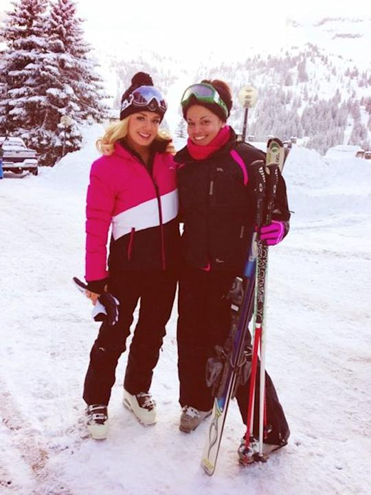 Celebrity Twitpics: Katherine Jenkins has been enjoying a skiing holiday this week, relaxing with friends. However, she found time to pose for this Twitter snap for her followers.