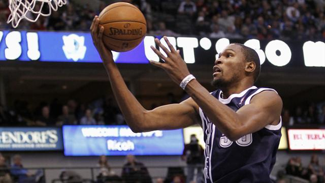 NBA - Durant bags career-best as Oklahoma down Dallas in overtime