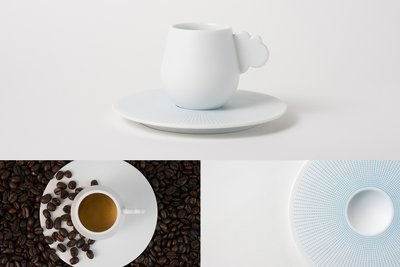 """Cloud"" cup and saucer is inspired by the clouds and skies over Singapore"