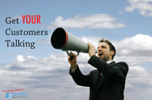4 Easy Ways to Get Your Customers Talking About You image Word of Mouth Marketing man Sm 300x199