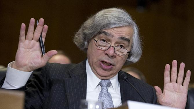 Energy Secretary nominee Ernest Moniz of Massachusetts, testifies on Capitol Hill in Washington, Tuesday, April 9, 2013, before a Senate Energy and Natural Resources hearing on his nomination.   (AP Photo/Manuel Balce Ceneta)