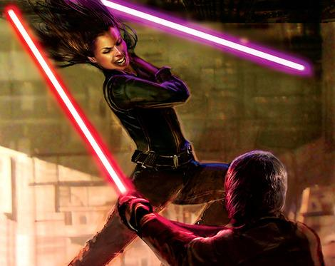 Sibling rivalry: Jaina and Jacen Solo duel