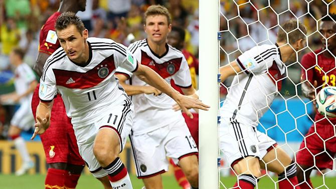 World Cup - Klose equals record as Germany and Ghana draw epic