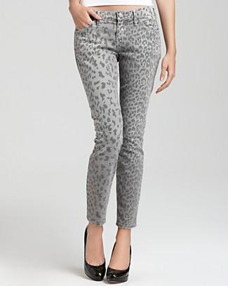 "Current/Elliott ""The Stiletto"" Leopard Print Pants, $198"