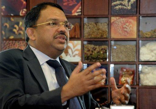This file photo shows Sunny Verghese, CEO of Olam International, during an interview in Singapore, in 2009. Farm commodities trader Olam's chief executive on Friday bought one million shares in the firm to boost shareholder confidence amid a withering attack from influential US short-seller Muddy Waters.