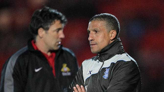 Dean Saunders (left) and Chris Hughton