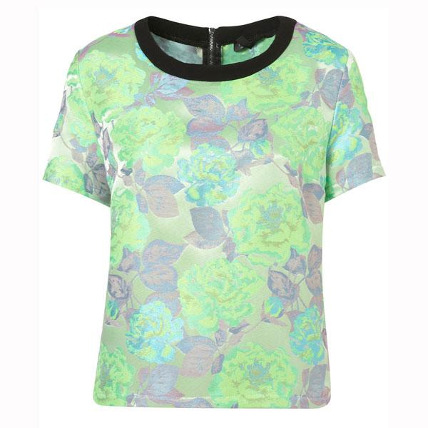Neon Floral Jacquard Tee - £45 - Topshop