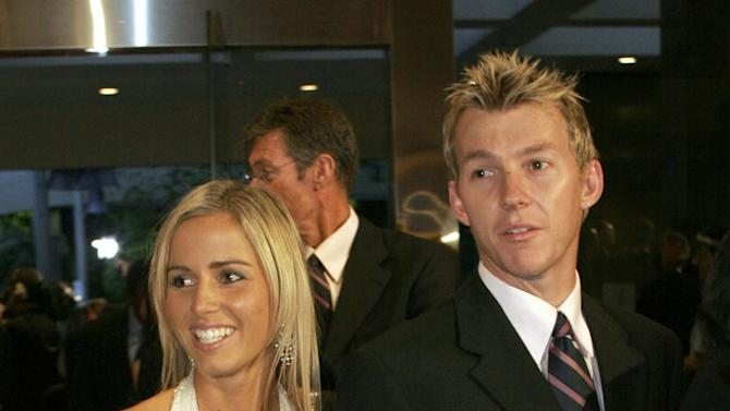 Brett Lee with ex-wife Liz Kemp