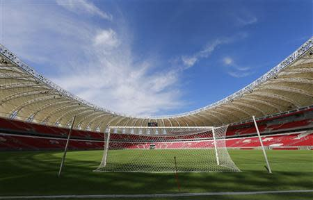 Beira-Rio Stadium is pictured during a visit by FIFA General Secretary Valcke in Porto Alegre