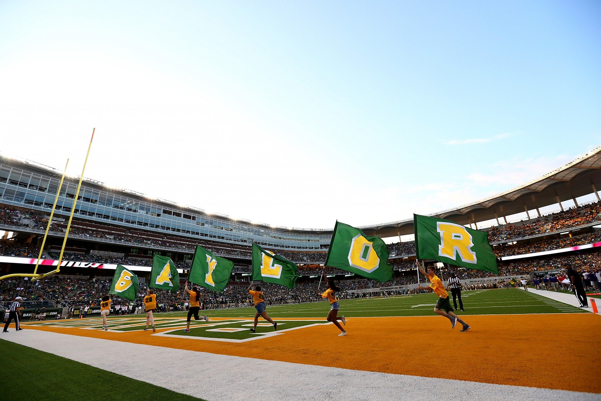 Baylor's associate athletic director was arrested earlier this month for assaulting a sportswriter. (Getty)