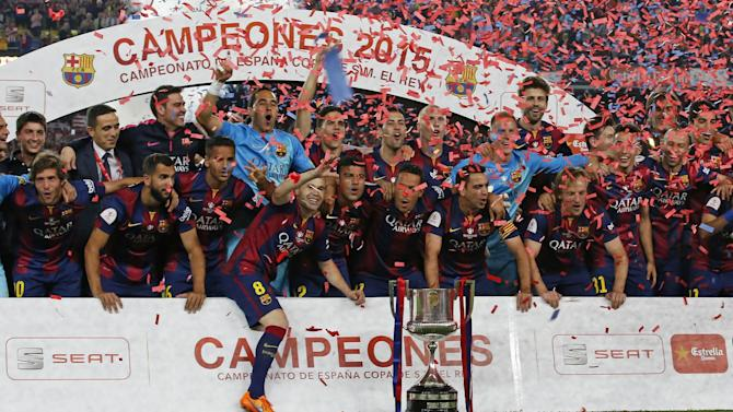 Football - Barcelona hit out at 'unjust' Copa del Rey fine