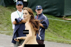 Female Streaker Shocks Crowd During President's Cup Golf Tournament (Photo)