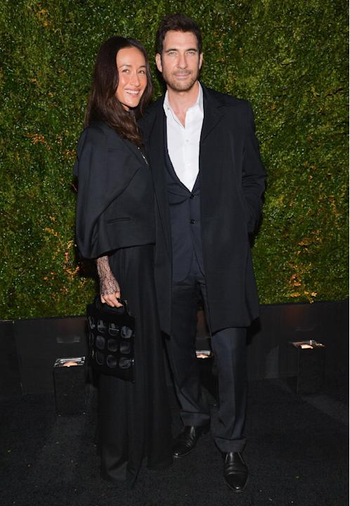 Actors Maggie Q and Dylan McDermott attend the CHANEL 10th Annual Tribeca Film Festival Artists Dinner at Balthazar Restaurant on Monday, April 20, 2015, in New York. (Photo by Evan Agostini/Invision/