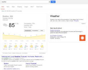 How Google Hummingbird Changed the Future of Search image google hummingbird weather SERP 600x479