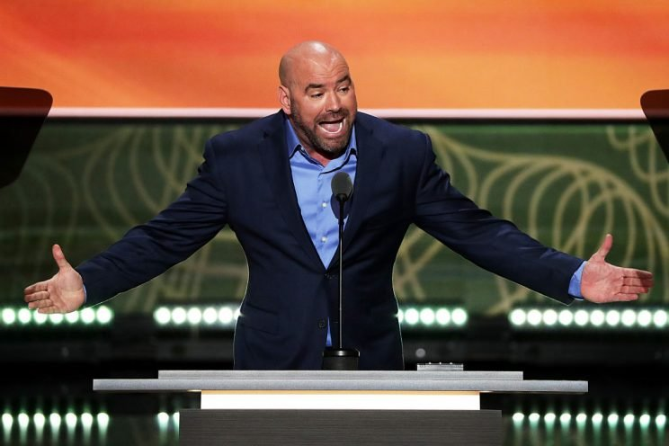 UFC President Dana White delivers a speech on the second day of the Republican National Convention on July 19, 2016. (Getty)