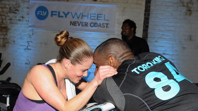 The Flywheel Challenge At The NFL House Hosted By Shannon Sharpe