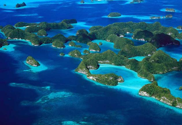 Rock Islands Southern Lagoon, Palau. (Photo: UNESCO/ Patrick L. Collin)