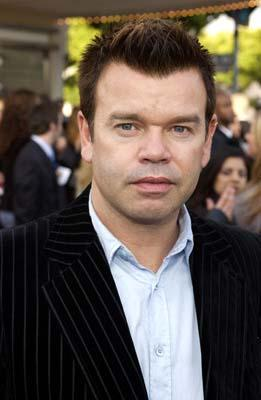 DJ Paul Oakenfold , who provided the technologically-produced musical score, at the Hollywood premiere of Warner Brothers' The Matrix: Reloaded
