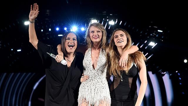 Taylor Swift's 'Bad Blood' Co-Stars Cara Delevingne & Mariska Hartigay Join Her On-Stage in Phildelphia