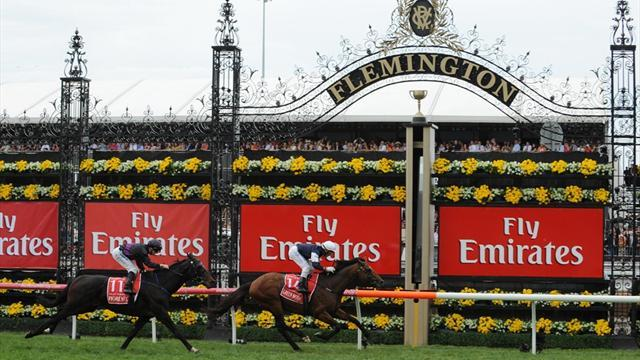 Horse Racing - Six-shooter Williams guns for fifth Melbourne Cup