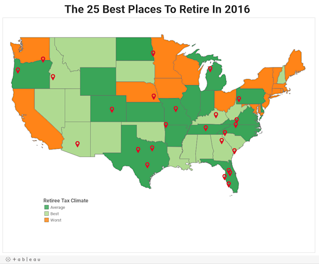 Map the 25 best places to retire in 2016 yahoo finance canada