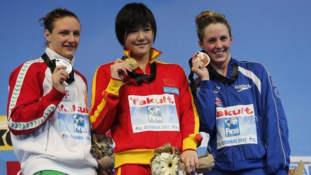 Swimming - Miley wins surprise bronze in Istanbul