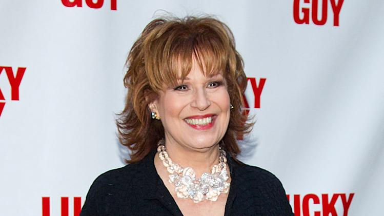 "FILE - In this April 1, 2013 file photo, TV personality Joy Behar arrives at the ""Lucky Guy"" Opening Night in New York. Behar's last day on the popular daytime talk show ""The View,"" will be Aug. 9. (Photo by Dario Cantatore/Invision/AP, File)"