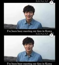 Lee Min Ho reveals his Christmas message video