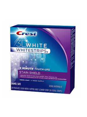 Crest 3D White Whitestrips 5 Minute Touch-Ups with Stain Shield