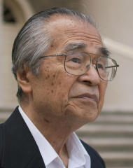 In this undated photo released by the Inamori Foundation, Japanese Masatoshi Nei, an evolutionary biologist at Pennsylvania State University, is shown. The Inamori Foundation on Friday, June 21, 2013, awarded Nei, 82, this year's Kyoto Prize in the basic sciences category for contributing to estimating when diverging of genetic human variations occurred. (AP Photo/The Inamori Foundation)