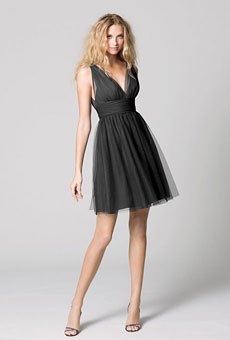 V-neck cocktail dress