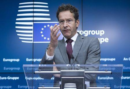 Eurogroup President Jeroen Dijsselbloem holds a news conference during a Euro zone finance ministers emergency meeting on the situation in Greece