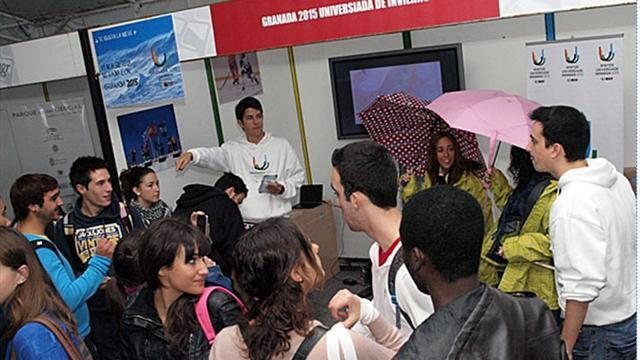 Winter Universiade - Granada 2015 present during Student Intro-Days at UGR
