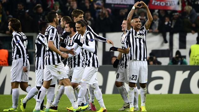 Champions League - Vidal treble earns Juventus first three points