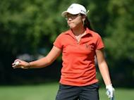 Lydia Ko of New Zealand reacts to her par on the fifth green during the final round of the Canadian Women's Open at The Vancouver Golf Club in Coquitlam, Canada
