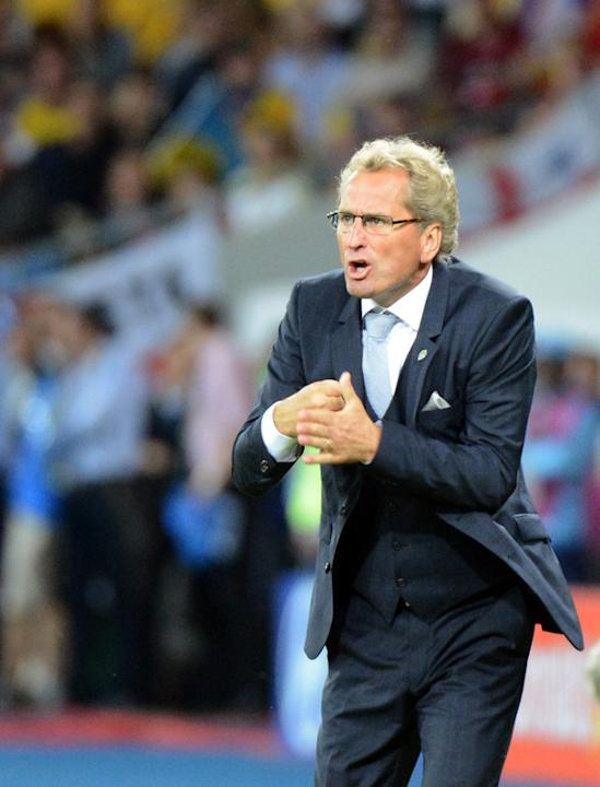 Swedish Headcoach Erik Hamren Gestures AFP/Getty Images