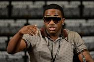 Boxer Adrien Broner addresses the media at the MGM Grand Garden Arena on May 5, 2012 in Las Vegas, Nevada. Unbeaten Broner promised more fireworks on Saturday when he makes his first defence of his World Boxing Council lightweight world title against Gavin Rees of Wales