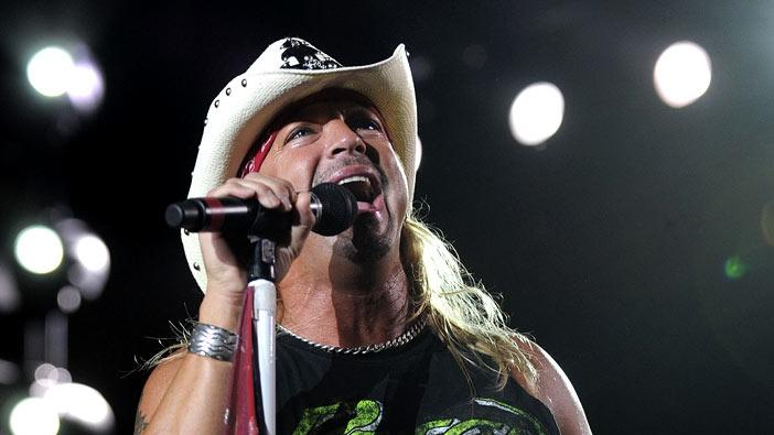 Bret Michaels of Poison performs in support of the bands' Summer Tour 2009 at Sleep Train Amphitheatre on September 3, 2009 in Wheatland, California.