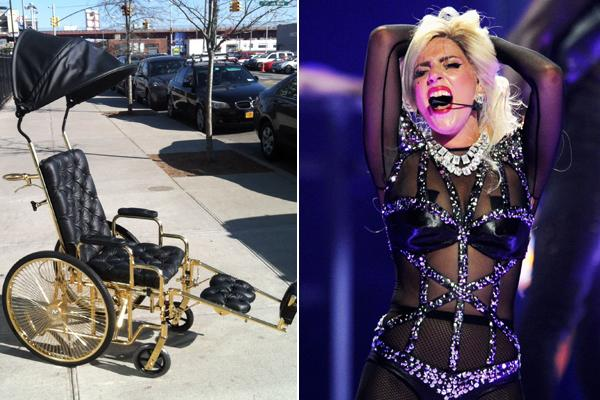 Lady Gaga's Gold Wheelchair: All the Details